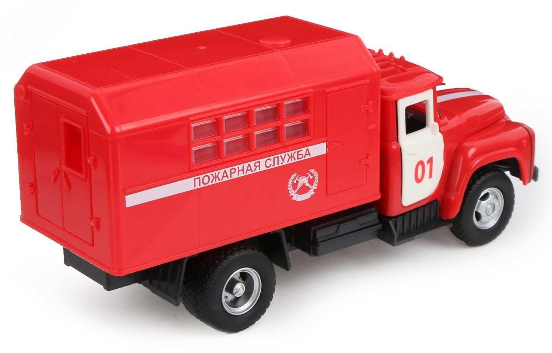 Грузовик инерционный Play Smart 1:34 «ЗИЛ-130 Фургон Пожарная служба» 21 см 9710-A Автопарк, свет и звук