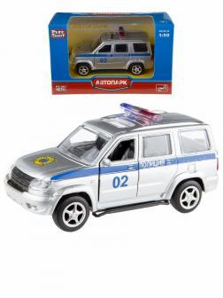 Металлическая машинка Play Smart 1:50 «УАЗ Патриот: Полиция» 10 см. 6403-D Автопарк, инерционная
