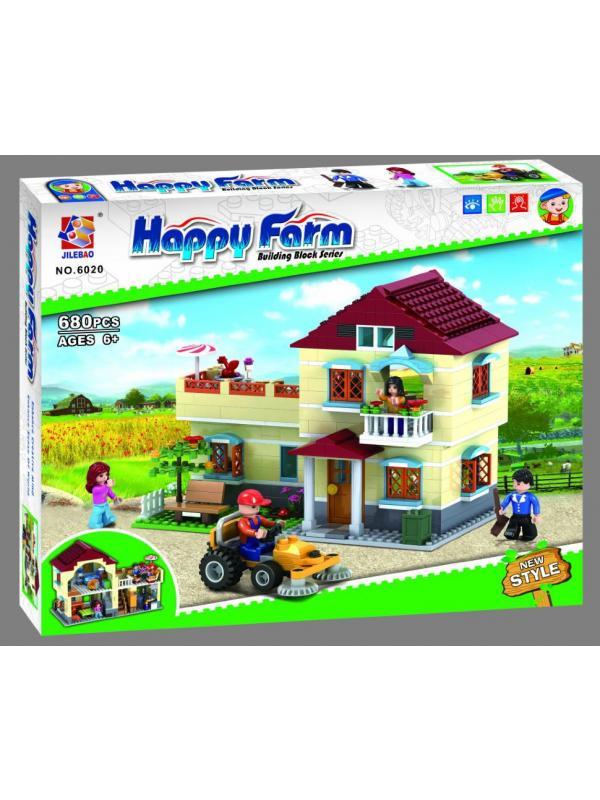 Конструктор JILEBAO Happy Farm «Загородный Дом» 6020 / 680 деталей