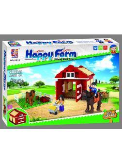Конструктор JILEBAO Happy Farm «Загон для лошадей» 6016 / 200 деталей