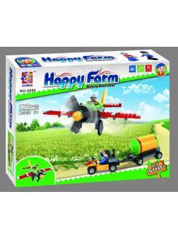 Конструктор JILEBAO Happy Farm «Кукурузник для обработки полей» 6006 / 170 деталей