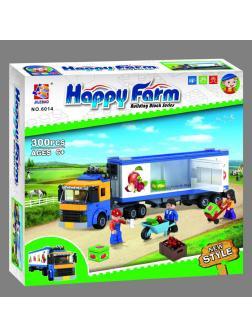 Конструктор JILEBAO Happy Farm «Трейлер-Овощевоз» 6014 / 300 деталей