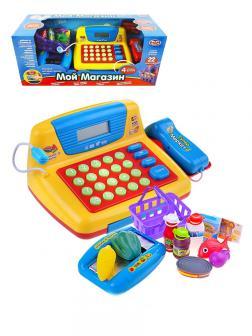 Игровая касса Play Smart «Мой магазин» с аксессуарами на батарейках / 7016
