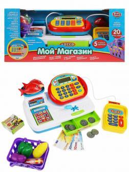Детская игровая касса Play Smart «Мой магазин» 7019 Мой магазин с аксессуарами на батарейках