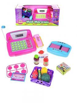 Касса Play Smart «Мой магазин» с аксессуарами на батарейках / 7017
