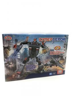 Конструктор Play Smart 2 в 1 «Супергерой Трансформер-Истребитель» 8123 / 285 деталей