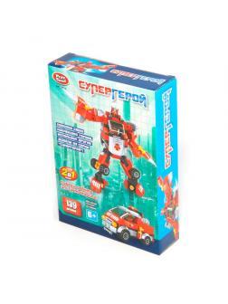 Конструктор Play Smart «Супергерой Трансформер-Пожарная машина» 2в1 8115 / 138 деталей