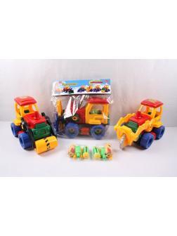 Конструктор с инструментами «Строительный трактор» 1222 / Микс