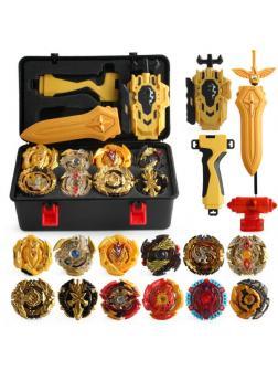 Набор Wbba. Gold Official Blader's Box с 12 Волчками, Кейс-боксом и Пускателями