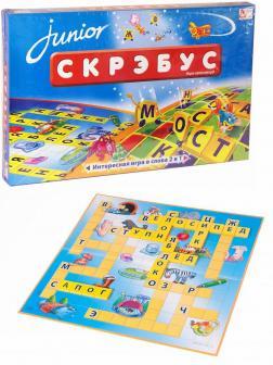 Детская настольная игра-слов 2 в 1 «Скрэбус Junior» 838