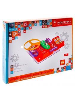Электронный конструктор «Контакт» 39 схем, свет, звук / для школы и дома