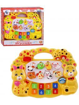 Развивающая музыкальная игрушка Tongde «Е-нотка» T364-D3437 свет, звук / Желтый