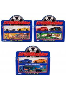 Набор металлических машинок Street Machine «Car & Truck» 3 машинки 2083PT / Микс