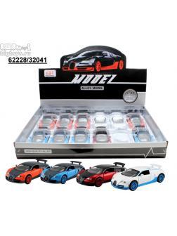 инерц. металл. DH 1:32 Bugatti Veyron со звуком и светом