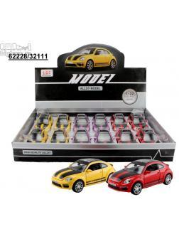 инерц. металл. DH 1:32 Volkswagen Beetle со звуком и светом