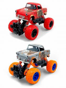 Металлическая машинка 1:36 «БигФут мини. Ретро» 13 см. MY66-Y2123 инерционная / Микс