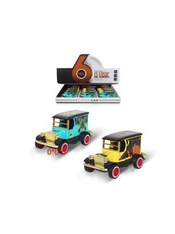 Металлическая инерционная машинка MY «Ретро фургон» / Микс