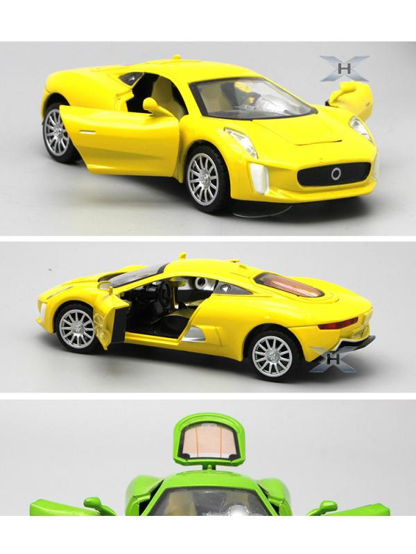 Металлическая машинка 1:32 «Jaguar CX75» 14,5 см. 609D свет и звук, инерционная / Микс