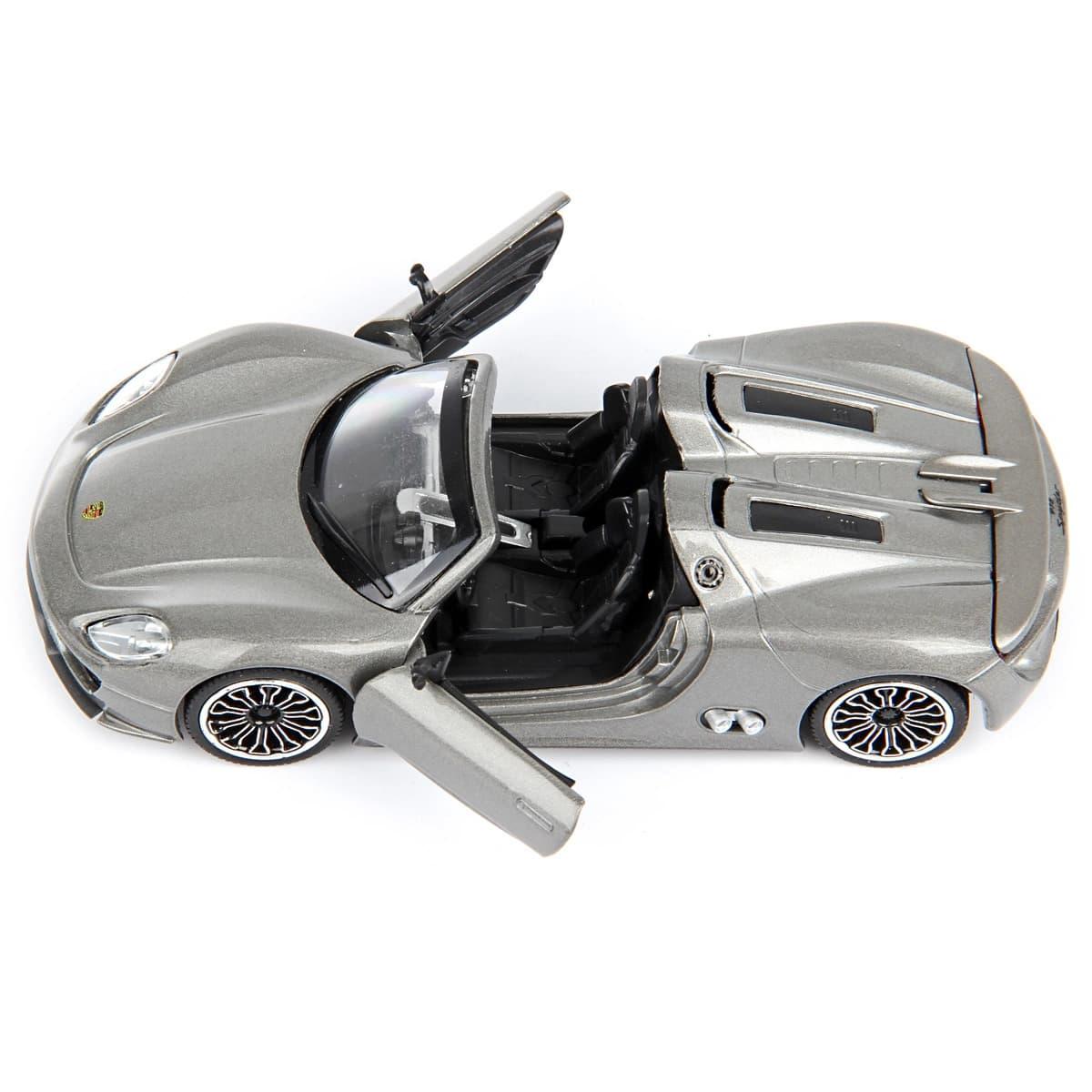 Металлическая машинка 1:32 «Porsche 918» 607D свет и звук, инерционная / Микс