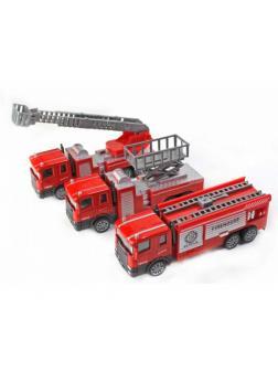 Металлическая машинка «Пожарная служба» 15 см. 559-4B инерционная / Микс