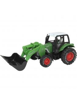 Металлическая машинка «Фермерский трактор с грейдером» 20,5 см. 955-100 инерционная