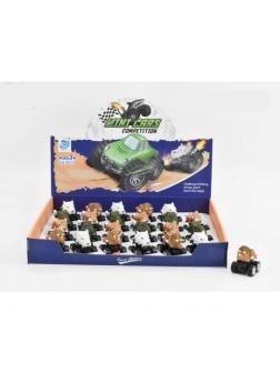 Металлическая мини-машинка «Звери/Динозавры» 9911-77 / Микс