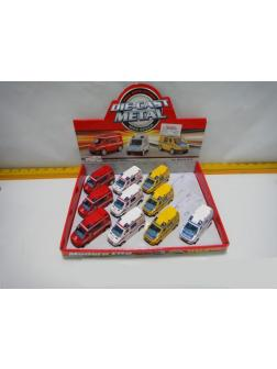 Металлическая машинка «Спецслужба» (пожарная/скорая/полиция) M8258-012 / Микс