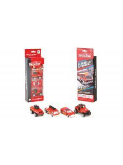Металлическая машинка 1:64 «Пожарный транспорт» 660-A132 / Комплект