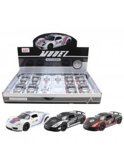 Металлическая машинка 1:32 «Porsche Martini» 32081 звук и свет / Микс