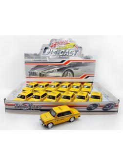 Металлическая машинка 1:32 «Lada 2106 Такси» 611CD свет и звук / Желтая