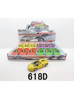 Металлическая машинка 1:32 «Lamborghini кабриолет» 618D свет и звук / Микс