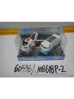 Игровой набор «Мотоцикл + Фургон» инерционный M8618P-2