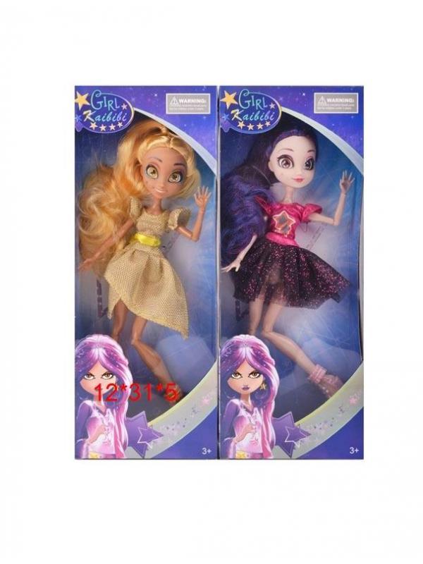 Кукла шарнирная «Звездная принцесса» в коробке, высота 27 см , 2 вида  Д091-1 / Kaibibi