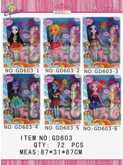 Куклы Пони с аксессуарами в коробке, 6 видов