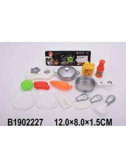 Набор кухонной игровой посуды из 14 предметов M8072 в пакете 19.5х23.0 см