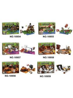 Конструктор Bl (Аналог LEGO Minecraft) 24.0x17.0x4.5 см, 6 видов (48.7х17.4х14.3 см)
