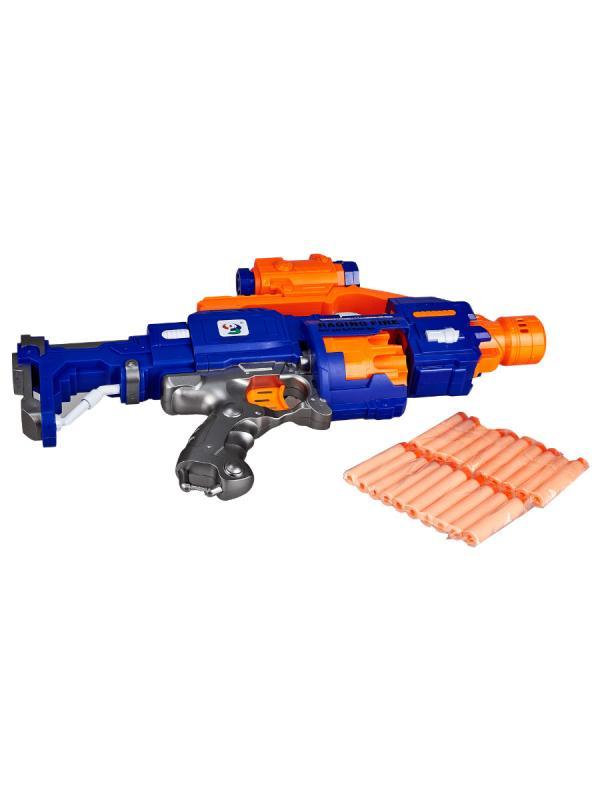 Бластер «Пулемёт» с мягкими пулями, работает от батареек / 7011-E