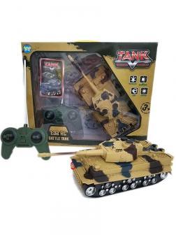 Игрушечный боевой танк на радиоуправлении со световыми и звуковыми эффектами, 1:32, YY2020-20B1, Battle Tank