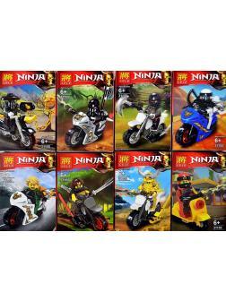 Минифигурки «Ниндзя на мотоциклах с оружием» 31155 (Совместимый с ЛЕГО), 8 видов
