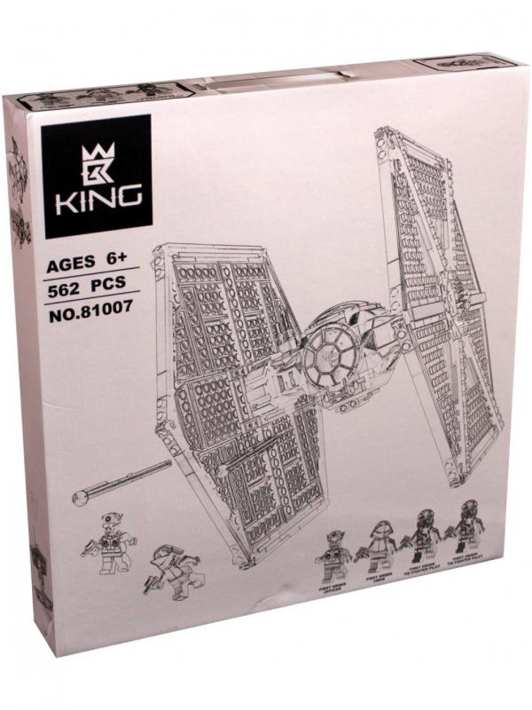 Конструктор KING «Истребитель TIE особых войск Первого Ордена» 81007 (Star Wars 75101) / 562 детали