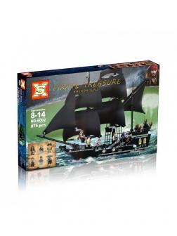 Конструктор S «Чёрная жемчужина» 39009 (Pirates of the Caribaeam 4184) / 875 деталей