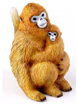 Фигурка Обезьяна с детёнышем   14.5см