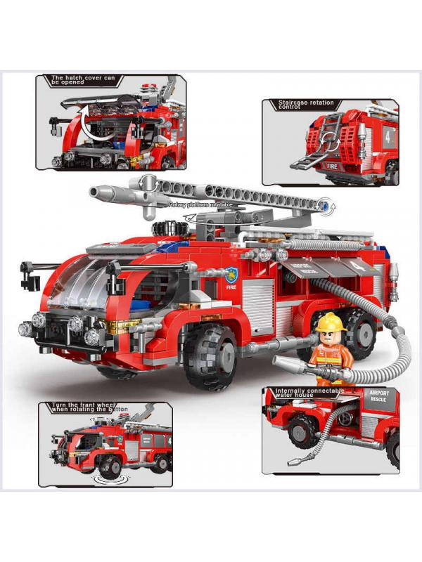 Конструктор XINGBAO «Пожарная машина с гидрантом» XB-03028 / 767 деталей