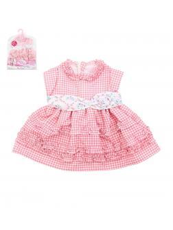 Одежда для интерактивной куклы 38-43 см «Baby Toby» T8146 / платье в клеточку с оборочками