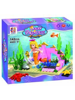 Конструктор JILEBAO «Русалочка и Рыбки» 6038 (Disney Princess) / 130 деталей