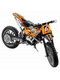 Конструктор Ll «Кроссовый мотоцикл» 38041 (Technic 42007) / 253 детали