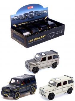 Машинка металлическая XLG 1:24 «Mercedes-Benz G-class Brabus» M929Y 20 см. инерционная, свет, звук / Микс