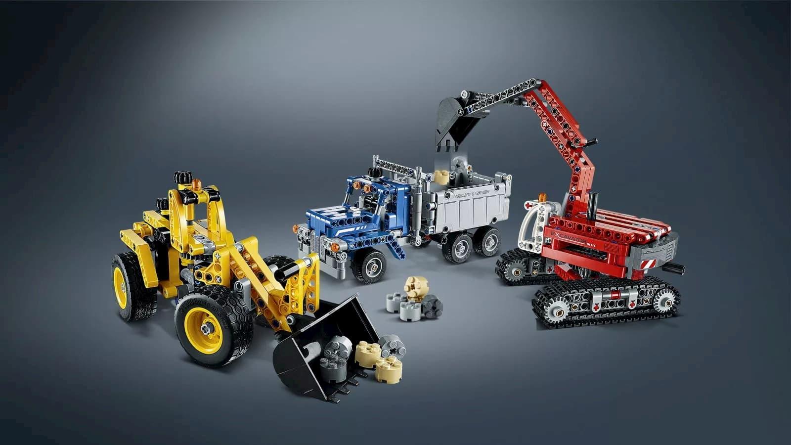Конструктор Decool «Строительная команда» 3365 (Technic 42023) / 834 детали