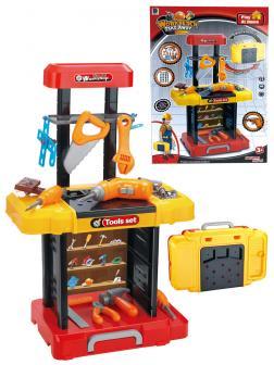 Детский набор инструментов в чемодане «Большая Стройка» 661-181