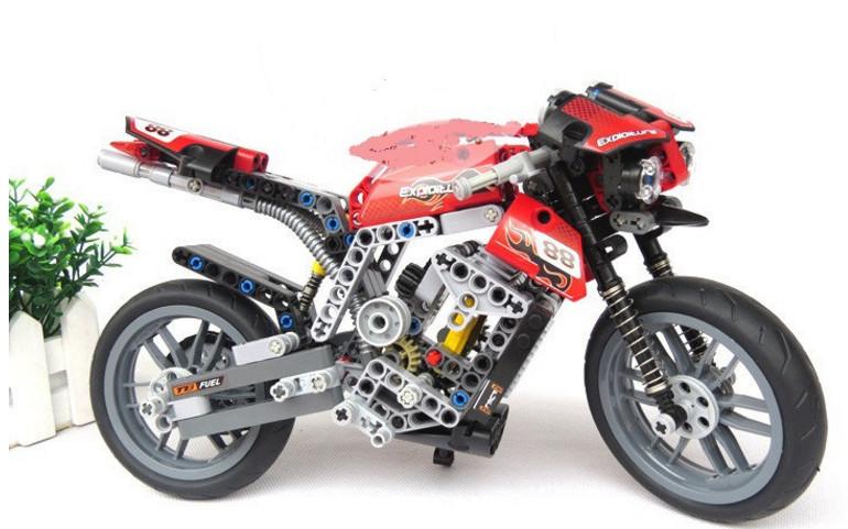 Конструктор Decool «Спортивный мотоцикл» 3353 (Technic 8051) / 431 деталь